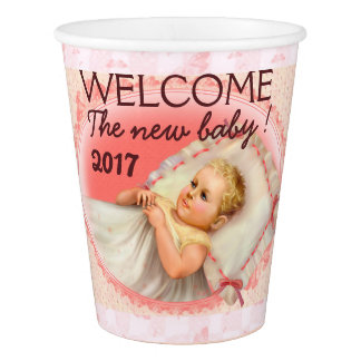 BB BABY NEW BORN CARTOON  PAPER CUP 2