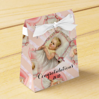 BB BABY NEW BORN Tent with Ribbon Favor Box
