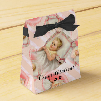 BB BABY NEW BORN Tent with Ribbon Favor Box Black