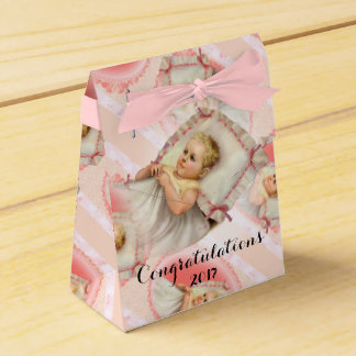 BB BABY NEW BORN Tent with Ribbon Favor Box pink