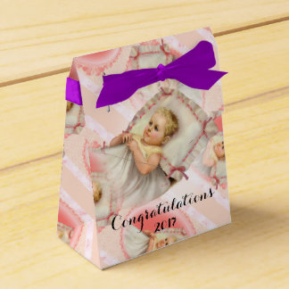 BB BABY NEW BORN Tent with Ribbon Favor Box purple