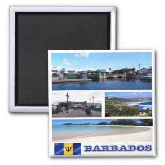 BB - Barbados - Mosaic Collage Magnet