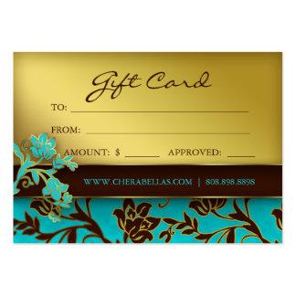 BB floral d or de spa de chèque-cadeau de salon de Cartes De Visite Personnelles