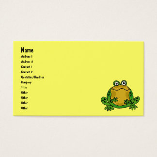BB- Funny Frog Business Cards