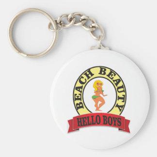 bb hello boys basic round button keychain