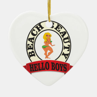 bb hello boys ceramic ornament