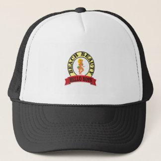 bb hello boys trucker hat