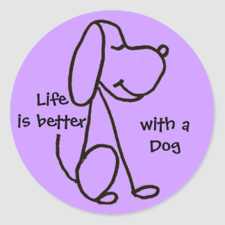 BB- Life is better with a Dog Stickers