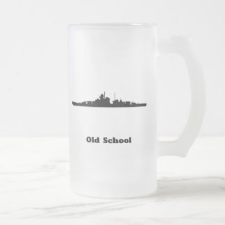 BB Old School Frosted Glass Beer Mug