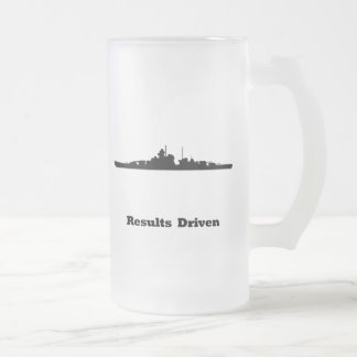 BB Results Driven Frosted Glass Beer Mug