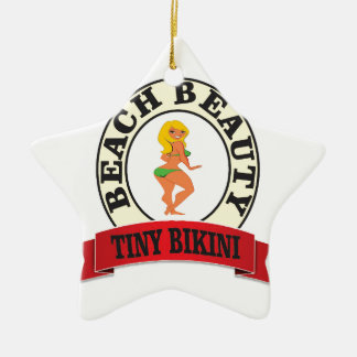 bb tiny bikini ceramic star ornament