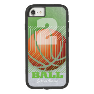 BBall #2 on chartreuse Case-Mate Tough Extreme iPhone 8/7 Case