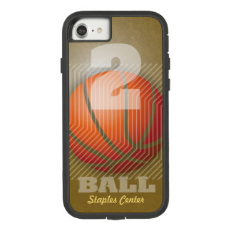 BBall #2 on Gold tone Case-Mate Tough Extreme iPhone 8/7 Case