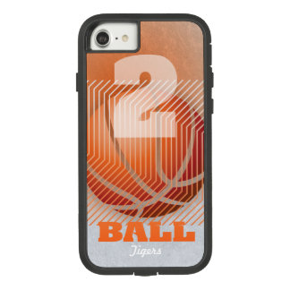 BBall #2 on orange Case-Mate Tough Extreme iPhone 8/7 Case
