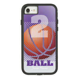 BBall #2 on purple Case-Mate Tough Extreme iPhone 8/7 Case