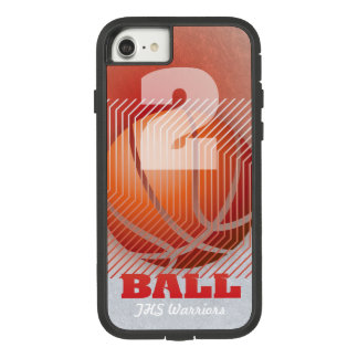 BBall #2 on red Case-Mate Tough Extreme iPhone 8/7 Case