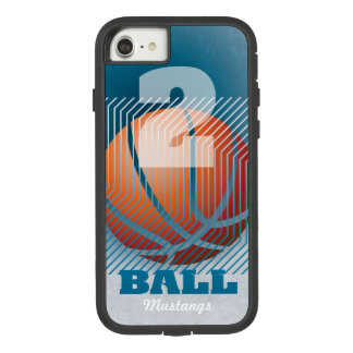 BBall #2 on teal Case-Mate Tough Extreme iPhone 8/7 Case