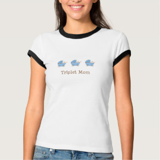 BBB Baby Carriage Triplet Mom T-Shirt