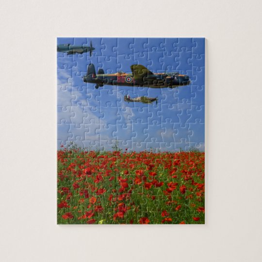 BBMF and poppies Jigsaw Puzzle