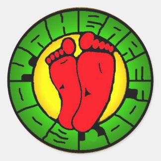 BBooyah_logo_rasta Classic Round Sticker
