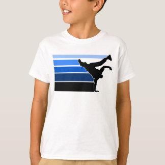 BBOY gradient blu blk kids Tee Shirts