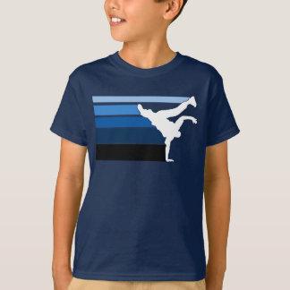 BBOY gradient blu wht T-shirts