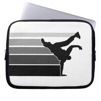 BBOY gradient grey blk  laptop sleeve