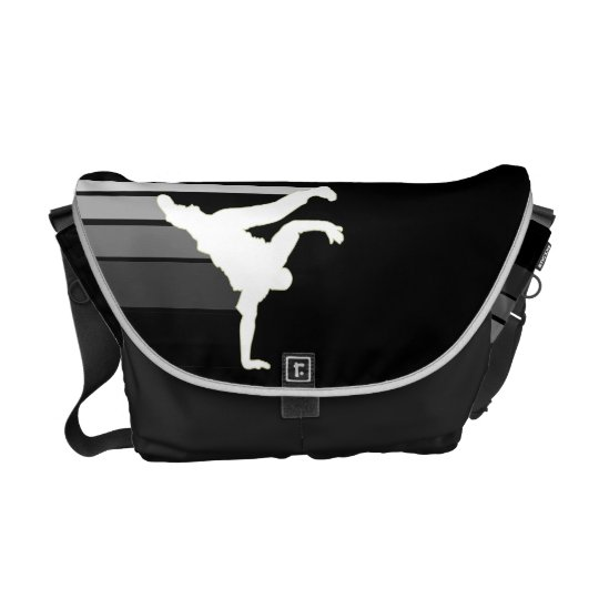 BBOY gradient grey/wht messenger bag