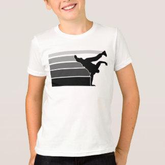 BBOY gradient gry blk kids Tshirt