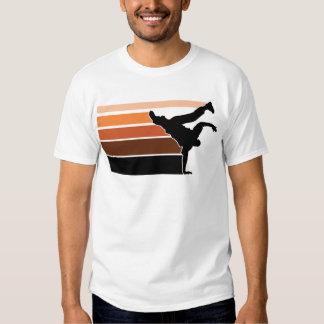 BBOY gradient orgn blk Tshirts