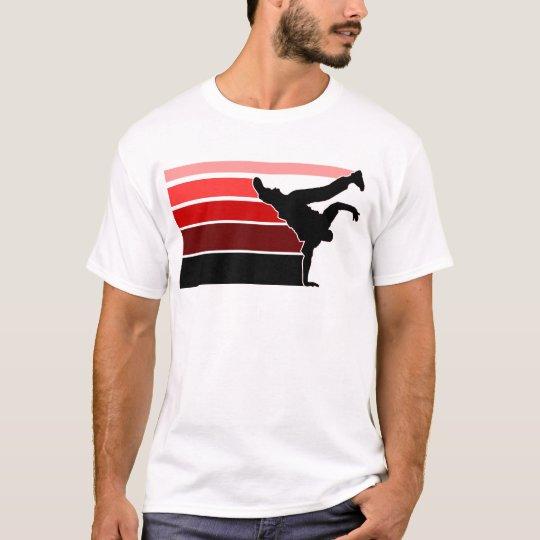 BBOY gradient red blk T-Shirt