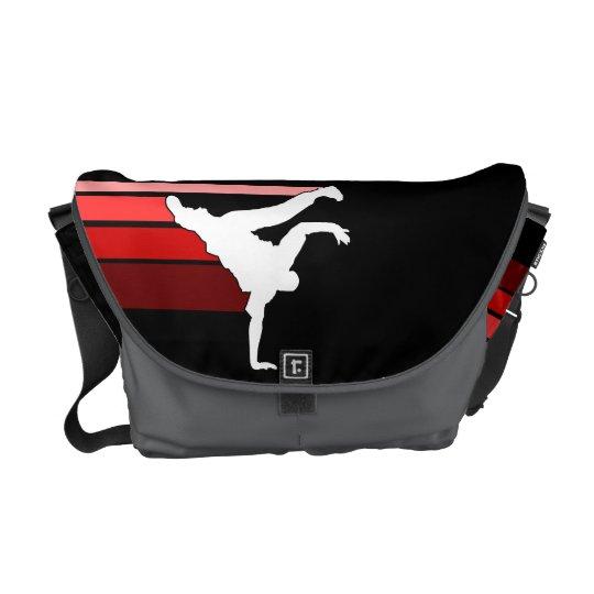 BBOY gradient red/wht messenger bag