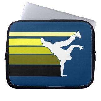 BBOY gradient yellow wht laptop sleeve
