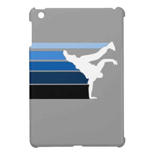 BBOY pose lines blu/wht Cover For The iPad Mini