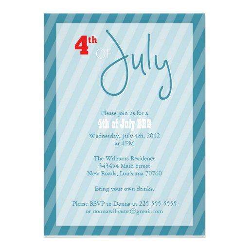 BBQ 4 juillet Invitation