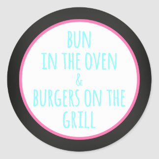 BBQ Baby Beer baby shower | Classic Round Sticker
