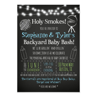 BBQ BaBy-Q Baby Shower Invitation and Book Card
