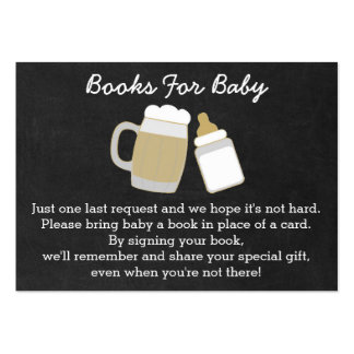 BBQ Baby Shower Book Request Cards Large Business Card