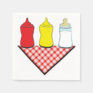 BBQ Baby Shower Disposable Napkin