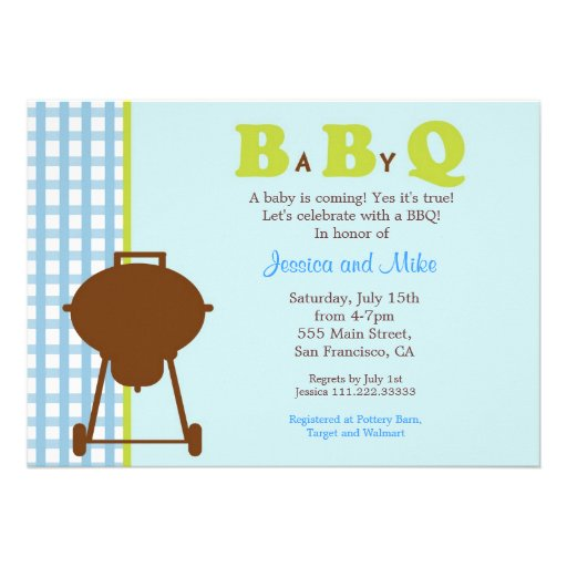 bbq baby shower invitation 5 x 7 invitation card zazzle