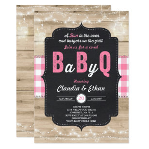 Marvelous BBQ Baby Shower Invitation Baby Q Couples Shower