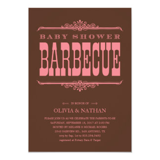 BBQ Baby Shower Invitations