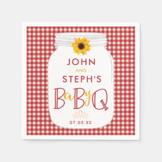 BBQ Baby Shower Napkins, BaByQ Barbeque Party Disposable Napkin