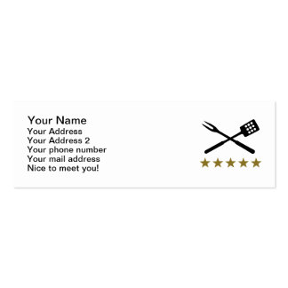 BBQ barbecue Cutlery Mini Business Card