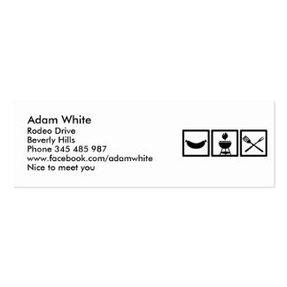 BBQ - Barbecue Gear Business Card Template