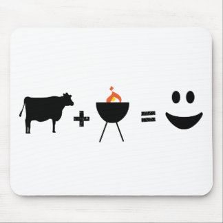 BBQ Beef Happy Mouse Mat