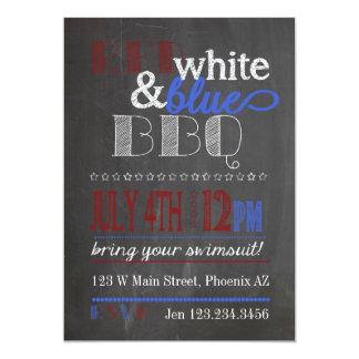 BBQ blanc de tableau et bleu rouge