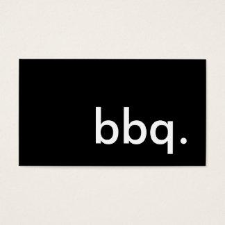 bbq. business card