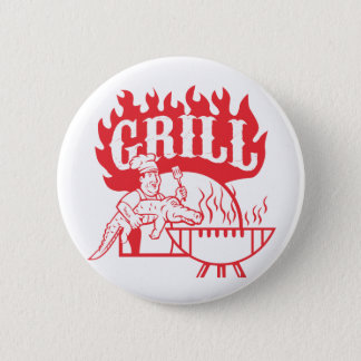 BBQ Chef Carry Gator Grill Retro 2 Inch Round Button