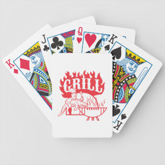BBQ Chef Carry Gator Grill Retro Bicycle Playing Cards